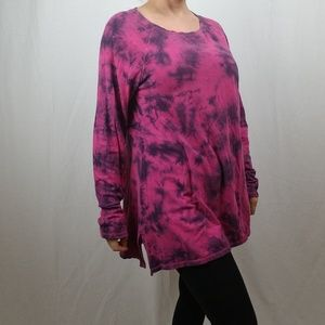 CALVING KLEIN PERFORMANCE TIE DYE TUNIC TOP LARGE